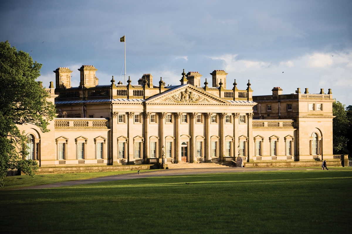 Harewood House was completely furnished by famous furniture-maker Thomas Chippendale, including the Chinese wallpaper.
