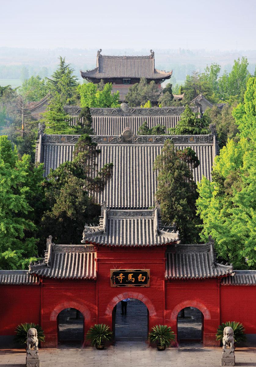 東漢年間建造的位於洛陽的白馬寺是中國最早的佛寺